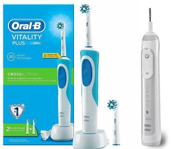 f48fb94832a9 ... Szczoteczka Oral-B Vitality + 2 końcówki Cross Action + Napęd Genius  9000 WHITE ...
